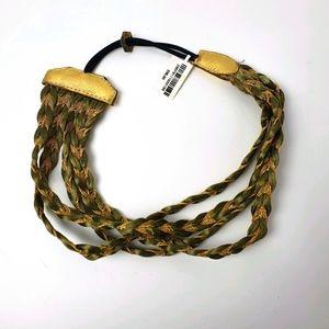 HENRI BENDEL Headband Metallic Braided RRP $98.00